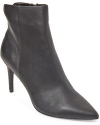 Steven by Steve Madden - Black Leiland Leather Pointed Toe Booties - Lyst