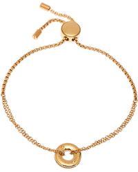 Michael Kors - Gold-tone Circle Adjustable Bracelet - Lyst