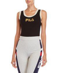 Fila - Jessa Ribbed Bodysuit - Lyst