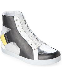 Adidas SLVR | Silver & Black Kitt Hidden Wedge Sneakers | Lyst