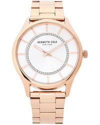 Kenneth Cole - Kc50039004 Rose Gold-tone Watch - Lyst
