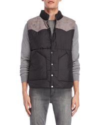 American Stitch - Color Block Quilted Vest - Lyst