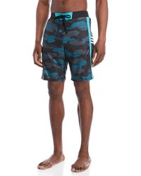 adidas - Printed Swim Trunks - Lyst