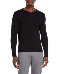 Forte - Worsted V-neck Sweater - Lyst