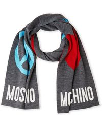 Moschino - Love And Peace Knit Scarf - Lyst