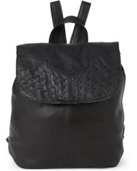 Day & Mood - Marley Laced Flap Leather Backpack - Lyst