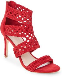 Sandro - Red Agate Braided High Heel Sandals - Lyst