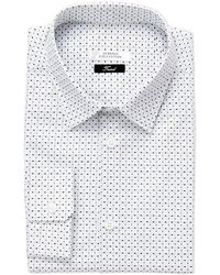 Versace - White Printed Trend Fit Dress Shirt - Lyst