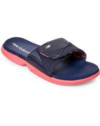 New Balance - Navy & Pink Jojo Sandals - Lyst