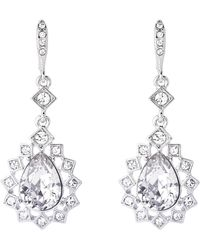 Givenchy - Silver-tone Crystal Drop Earrings - Lyst