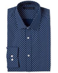 Tommy Hilfiger - Navy Anchor Print Slim Fit Dress Shirt - Lyst