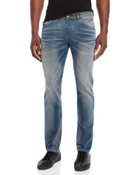 715038cc DIESEL - Denim Indigo Belther Regular Slim-tapered Jeans - Lyst