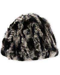Belle Fare - Real Rex Rabbit Fur Knitted Beanie - Lyst