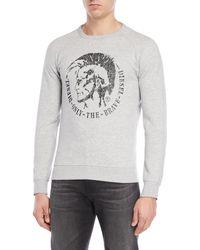 DIESEL - Logo Fleece Sweatshirt - Lyst
