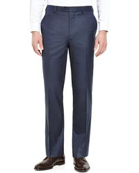 Tommy Hilfiger - Blue Flat Front Pants - Lyst
