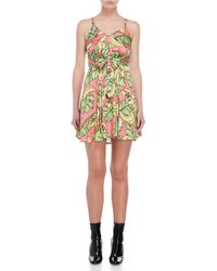 Love Moschino - Printed Flounce Dress - Lyst