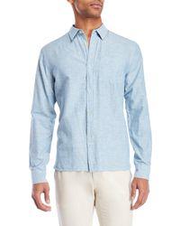 Bellfield - Pale Blue Button Shirt - Lyst