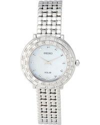 Seiko - Sup373 Silver-tone Watch - Lyst