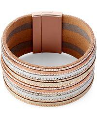 pannee by panacea - Metallic Multi-strand Bracelet - Lyst