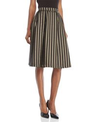 GAUDI - Striped Skirt - Lyst