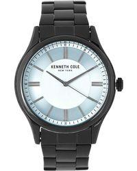 Kenneth Cole - Kc50133001 Black-tone Watch - Lyst