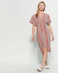 8b44a8c8d8b4 The Vanity Room - Striped V-neck Midi Dress - Lyst