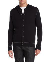 Forte - Button Hooded Cardigan - Lyst