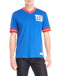 Mitchell & Ness - New York Giants V-neck Logo Tee - Lyst