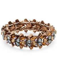 Catherine Stein - Gold-Tone Accented Stretch Bracelet - Lyst