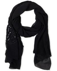 Boutique Moschino - Sequin Logo Silk Scarf - Lyst