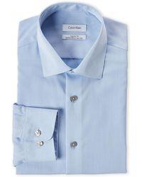 Calvin Klein - Blue Regular Fit Dress Shirt - Lyst