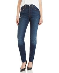 Levi's - 501 High-rise Distressed Skinny Jeans - Lyst