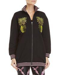 Giamba - Black Graphic Pineapple Zip Knit Jacket - Lyst