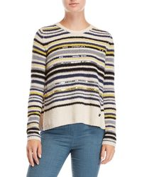 Sonia by Sonia Rykiel - Striped Sequin Sweater - Lyst