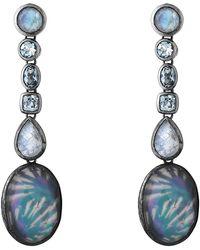 Stephen Dweck - Sky Blue Topaz & Rainbow White Moonstone Drop Earrings - Lyst