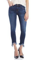 da85a8f176e Lyst - Flying Monkey Steph Ankle Skinny Jeans in Blue