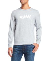 G-Star RAW - Crew Neck Pullover - Lyst