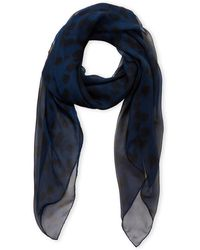 Alexander McQueen - Silk Printed Scarf - Lyst