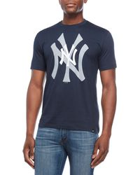 47 Brand - New York Yankees Double Logo Tee - Lyst