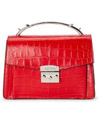 Valentino By Mario Valentino - Lipstick Belle Croc-embossed Leather Satchel - Lyst