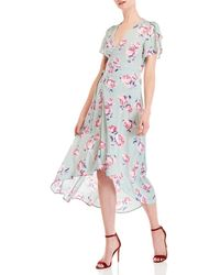 Re:named - Emmy Floral Wrap Dress - Lyst