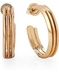 Eddie Borgo - Gold-tone Trace Hoop Earrings - Lyst