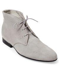 Rochas - Grey Suede Chukka Boots - Lyst