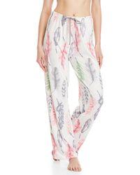 Hue - Feather Print Lounge Pajama Pants - Lyst
