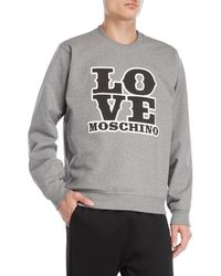 Love Moschino - Graphic Logo Fleece Sweatshirt - Lyst