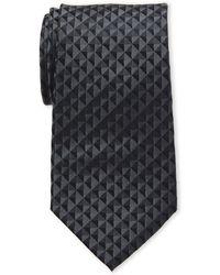 Calvin Klein - Black Optic Geo Silk Tie - Lyst