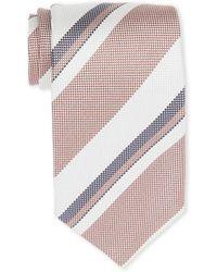 Tom Ford - White & Red Stripe Silk Tie - Lyst