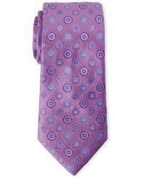 Duchamp - Purple Circle Silk Tie - Lyst