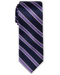 Tommy Hilfiger - Lavender Bedford Stripe Silk Tie - Lyst