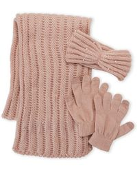 Betsey Johnson | 3-piece Scarf Headband & Glove Gift Set | Lyst